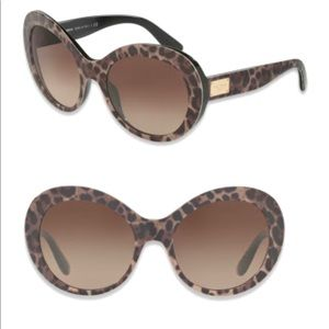 Dolce&Gabbana Round Leopard sunglasses